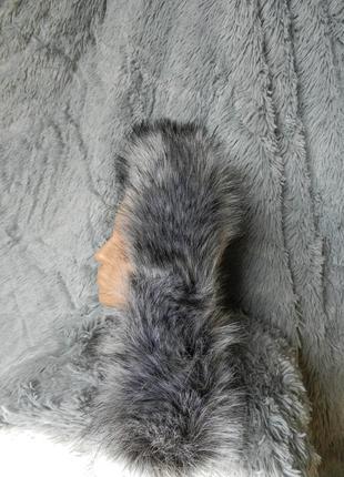 ✅ пушистая опушка на капюшон мех эко лиса чернобурка