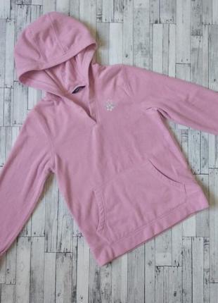 Кофта кенгуру худи george на флисе для девочки розовая