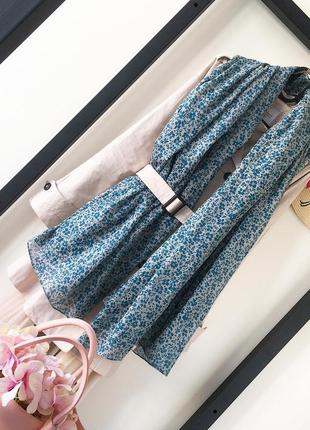 Хлопковый платок 160/110 шарф 100% хлопок цветочный принт