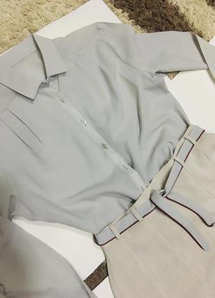 Юбка и блуза серая -2вещи.