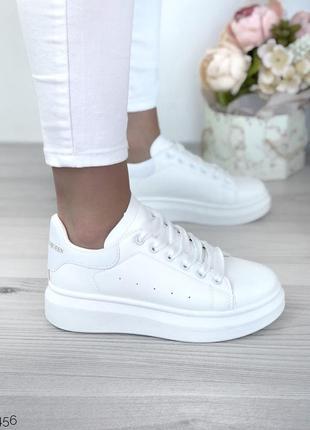 Новые белые кроссовки кеды с 37-41