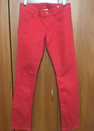 Красные джинсы на девочку рост 158