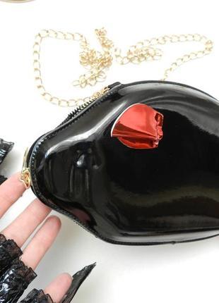 Мини сумочка клатч хрюша на цепочке