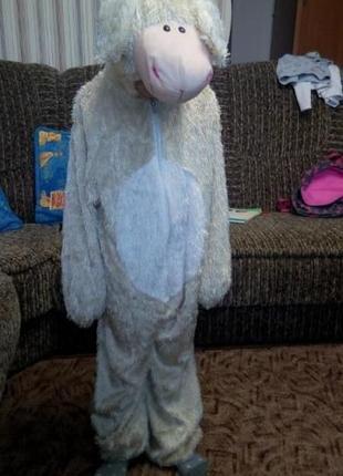 Новогодний  костюм овечка 7 лет