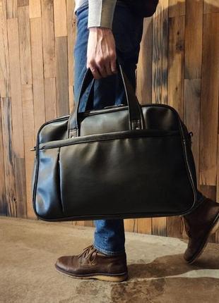 Вмістка туристична сумка екошкіра унісекс чоловіча жіноча