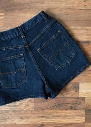 Стильные темно-синий джинсовые шорты3 фото