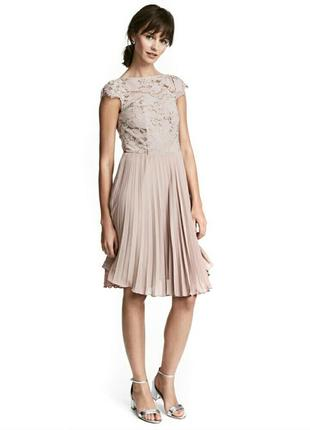 Распродажа ! 🔥🔥новое элегантное брендовое платье h&m кружево плиссировка