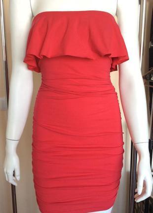 Платье victoria's secret сарафан с открытыми плечами оборками пляжный