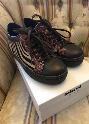 Ботинки оксфорды броги baldinini