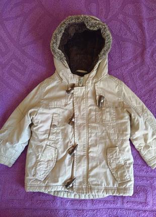 Куртка парка next  деми, демисезонная, 18-24 мес