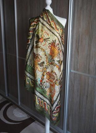 Dolce & gabbana шикарный шелковый платок.
