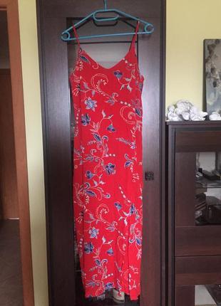 Длинное натуральное платье marks & spenser1 фото