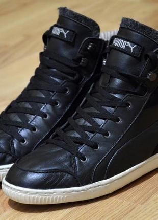 Puma,  оригинал кожаные кроссовки  фирменные, кеды  стильные