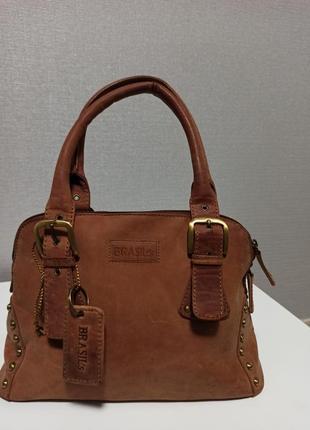 Стильная и очень качественная сумка из натуральной кожи brasils
