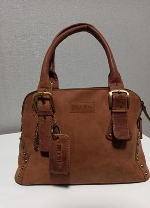 Стильная и очень качественная сумка из натуральной кожи brasils5 фото