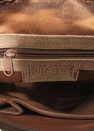 Стильная и очень качественная сумка из натуральной кожи brasils3 фото