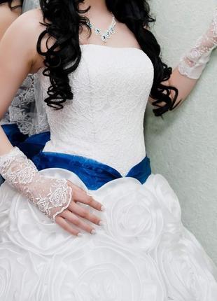 Свадебное платье из роз размер 48