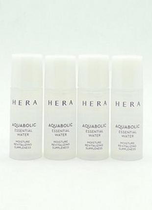 Увлажняющий тонер премиум-класса hera aquabolic essential water 5 ml