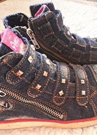 Кеды джинс на замке. geox оригинал. 36 разм.