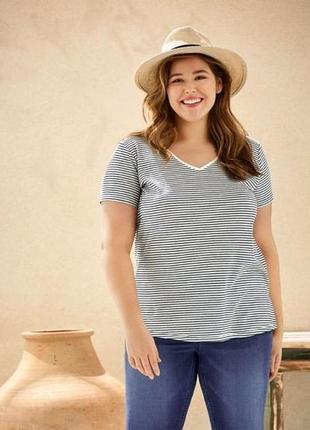 Отличная футболка,вискоза+лен,esmara. размер 3xl, евро 56-58