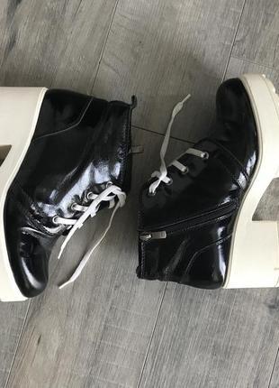 Ботинки на платформе тёплые