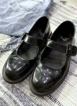 Оригинальные туфли dr. martens black mariel patent-leather