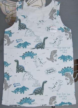 Майка 8-9 лет донелла donella динозавры