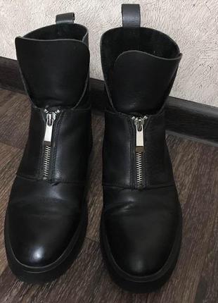 Актуальные ботинки сапоги zara кожа натуральная 38