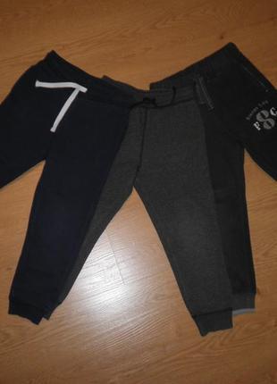 Набор из трёх пар спортивных штанишек флис и хлопок h&m на мальчика 4-5лет 110см