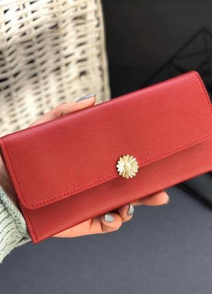 Стильные женские кошелёчки, цвет красный