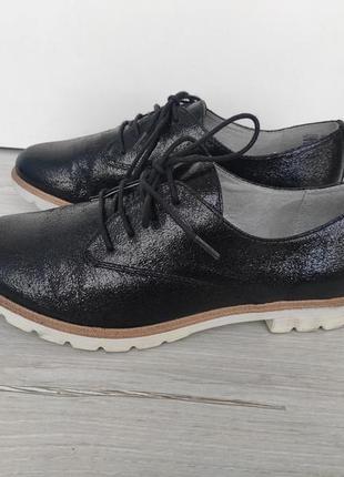 Стильные фирменные туфли оксфорды tamaris