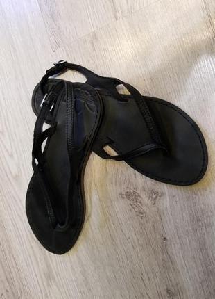 40р!adidas!кожаные босоножки сандали вьетнамки