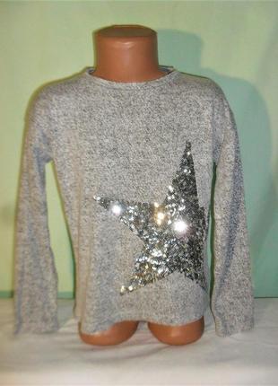 Тонкий свитер на 6-7лет рост 122