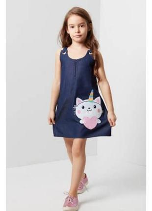 Платье с аппликацией котика