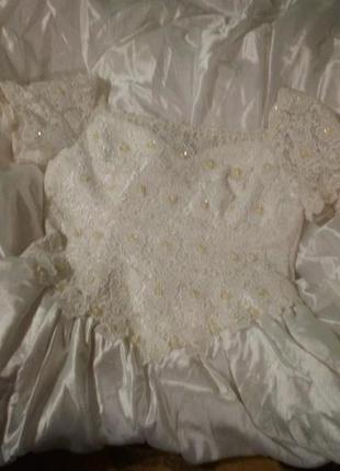 Супер красивое свадебное платье, лиф вышит бисером