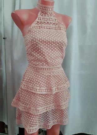 Платье сарафан на лето пудрового цвета