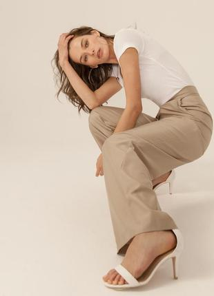 Тренд! sinequanone широкие бежевые хлопковые брюки, франция, р.36, s-ка
