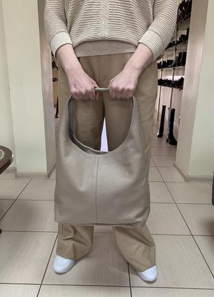 Женская сумка шоппер италия натуральная кожа