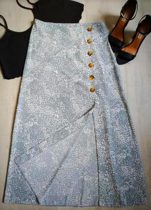 Красивая миди юбка на запах