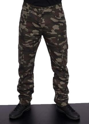 Джинсы мужские  коттоновые камуфляжные