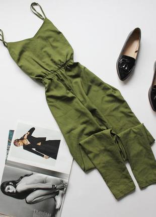 Классный зеленый ромпер брюками с 8 boohoo