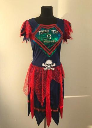 Черлидер зомби ведьма 13-14 лет костюм