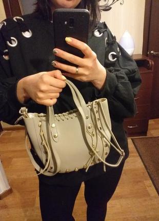 Очень красивая итальянская кожанная сумка vera pelle,кросбоди,сумка с длинной ручкой,клатч