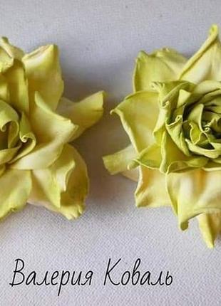 """Резинки для волос """"чайные розы"""" ручная работа"""