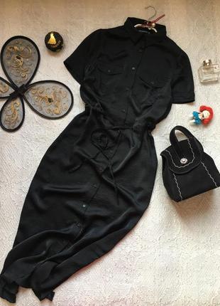 Базовое платье-рубашка миди /terranova/размер xs-s