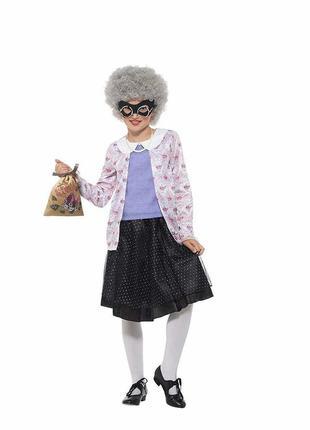 Гангстерша старушка бабушка костюм 7-9 лет