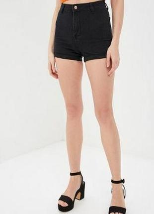 Крутые черные короткие шорты