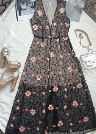 #розвантажуюсь шикарное кружевное платье h&m
