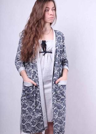 🌺 халат в роддом с ночной сорочкой для кормления 485485