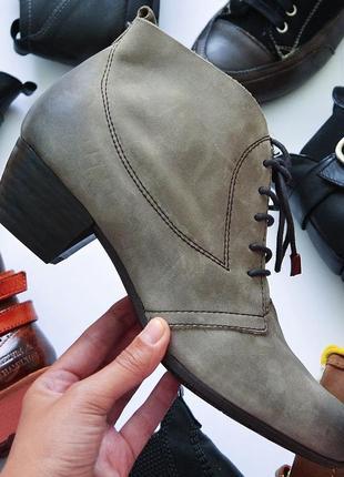 Кожаные фирменные фирменные ботинки от tamaris